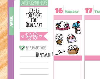 Munchkins - Happy Mail Letters and Packages Planner Stickers (M109)