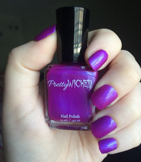 Pink Purple Nail Polish: Magenta Nail Polish, Margo Polish, Purple Nail Polish