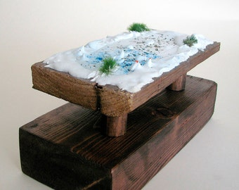 Sculpture, Mixed media, Abstract Art,  Lanscape,  recycled wood