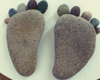 pebble rock feet