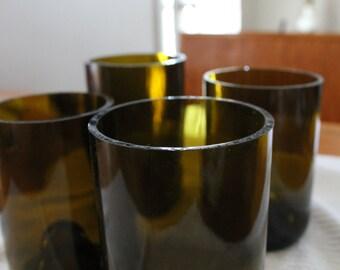 Handmade Wine Bottle Glasses