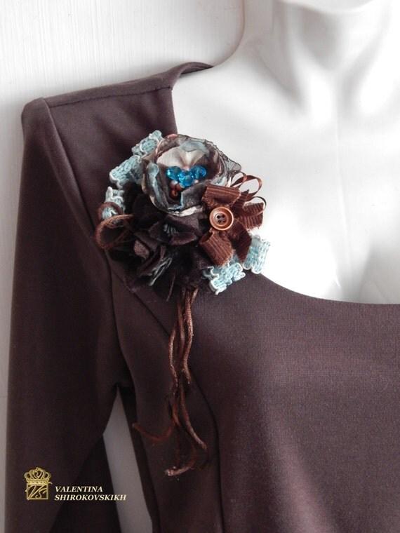 Popular items for handmade brooch, handmade brooch, cute brooch,Boho jewelry, Boho brooch,  Fabric brooch