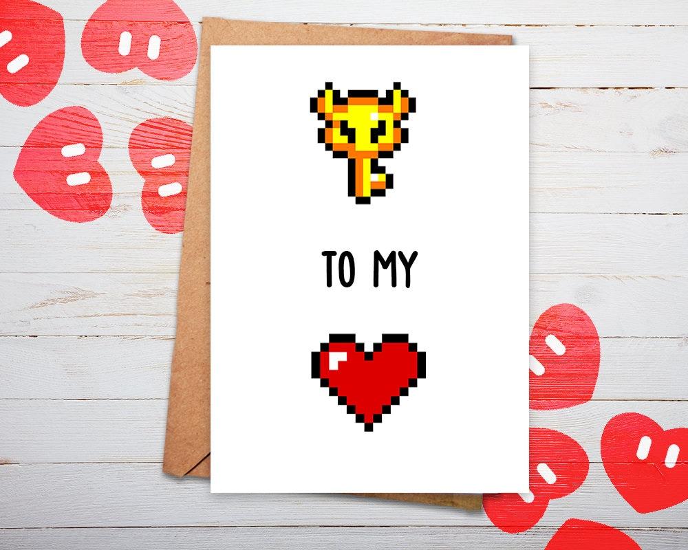 Key to My Heart Card Zelda Card Link Zelda Legend of Zelda – Legend of Zelda Valentine Card