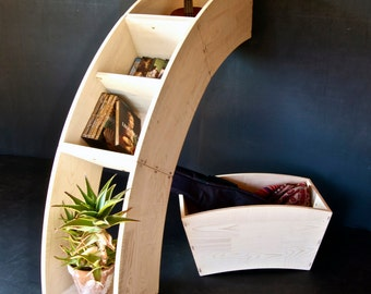 modular multipurpose structure, handmade in solid wood. It can be used as bookcase, shelf, container, case, table, stool  and more