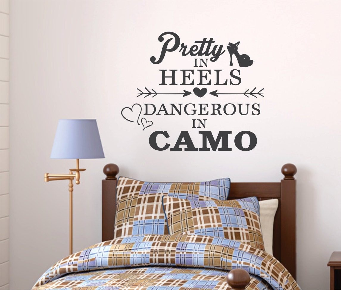 Camo decal camo wall decal camo girl decal camo by decallifeco for Camo mural wall