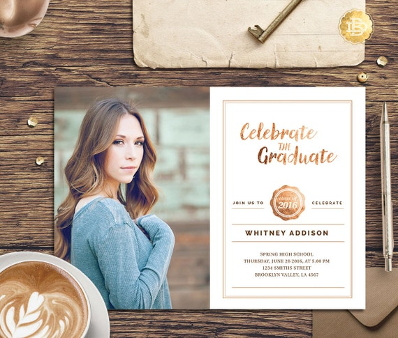 Senior Announcement Template Girls Guys, Senior Graduation Announcement Templates, Senior Template, Photography Template  AC001