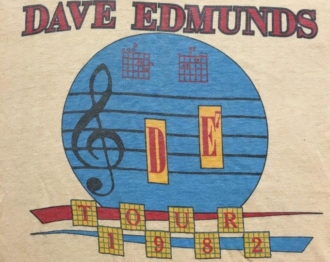 Rare 1982 Dave Edmunds Tour T-shirt
