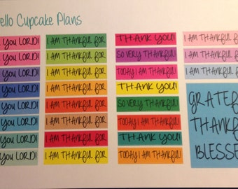 Colorful Count Your Blessings Planner Stickers
