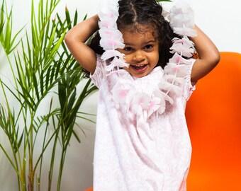 Pink Toile Dress Summer Dress Girls Dress