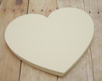 4 inch Cardstock Hearts-Cream Heart Cutouts-Wedding Advice Cards-Bridal Shower Decor-Shower Advice Cards-Cream Paper Hearts-DIY Valentines