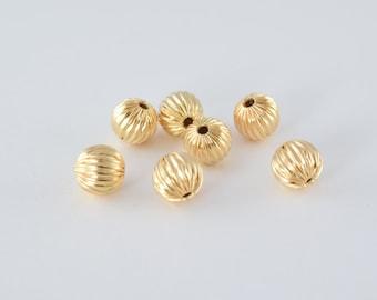 10mm Gold Filled Diamond Cut Round Ball 10mm Bead GF3383 18KGF