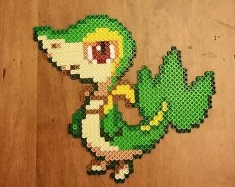 Snivy Pokemon Perler Bead Sprite