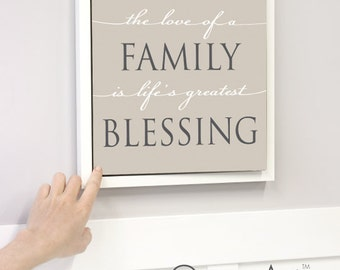 "Family Dry Erase Message Board ""Blessings"""