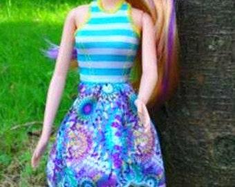 Modest Barbie Clothes, Modest Barbie Doll. Modest Barbie Dress, Girls Birthday Gift, Barbie SHOES, Barbie Fashion, Modest Doll Clothes