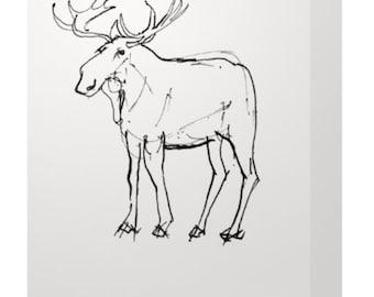 Canadian Moose Greeting Card