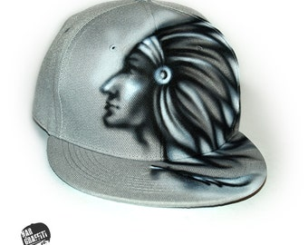 NATIVE American Snapback hat custom hand painted airbrushed baseball cap GRAFFITI named customized personalized best gift for boy and girl