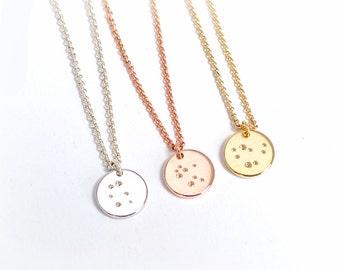 Zodiac constellation necklace, silver zodiac necklace, sign necklace, astrology necklace, constellation jewelry, zodiac jewelry