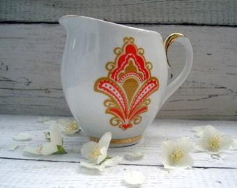Vintage kitchen Womens gift Vintage Milk Jug Soviet vintage tableware Kitchen decor Vintage pitcher Creamer Vintage jug Porcelain creamer