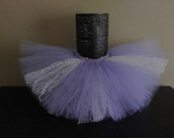 Lavender and lace tutu skirt, infant tutu, toddler tutu, lavender tutu, newborn girl outfit, tulle tutu