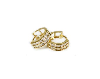 Deal of the day! Huggies clear CZ earring
