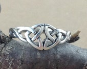Celtic Knot Ring~Sterling Silver Double Trinity Ring~Celtic Double Trinity Ring~Irish Knot Ring~Knotted Ring