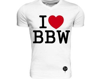 I <3 BBW • v-neck, organic & fair trade cotton