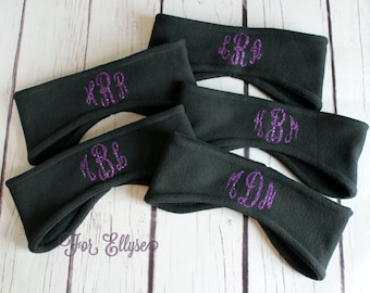Monogrammed Fleece Headband - Personalized cold weather gear