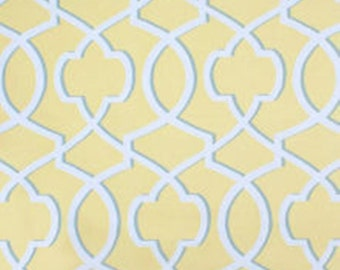 Yellow Geometric Curtains