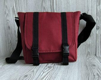 Messenger Bag Women, Crossbody Shoulder Purse Burgundy Red Hipster Bag Cross body School bag