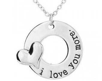 I Love You More Charm with Chain/Xmas/Love and Friendship Necklace