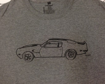 Pontiac Trans Am Tee Shirt- Pontiac Trans Am Gift- Pontiac Gift- Classic Car- Muscle Car- Hand Drawn Screen Print- Size Medium