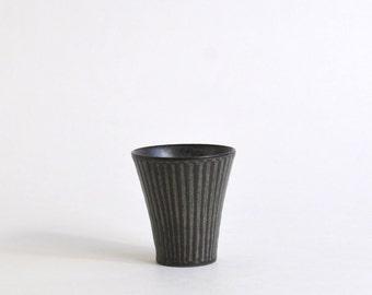 Shinogi Sake Cup (Horn/Blue Black) ; Koji Kitaoka (15005705-RBG)