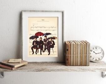 The Beatles Rain Sheet Music Art Print