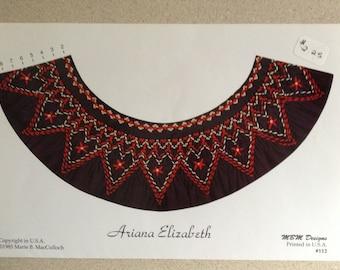 """Smocking Plate """"Ariana Elizabeth"""" by Marie B. McCulloch"""