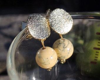 ON SALE* Dangle earrings, Wheat gold stud earrings