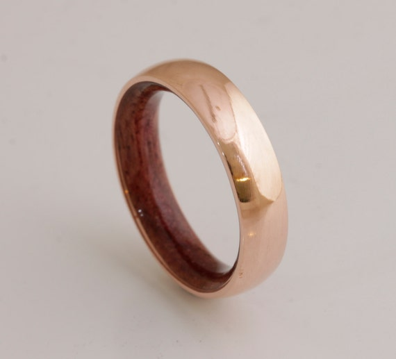 Copper Wedding Band Copper Wood Ring Man Ring Mens