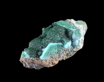 "Malachite & Chrysocolla Botryoidal Crystal Cluster Raw 2 1/4"" A805"