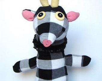 white and black giraffe teddy bear plushie birthday gift