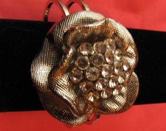 Vintage Large Silver Mesh Corsage Bracelet