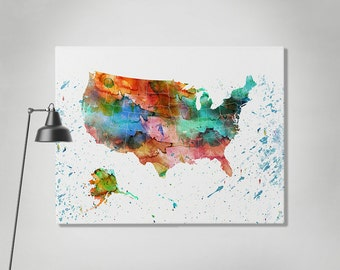 World Map Canvas Art Print Travel Map Large World Map Black - Us map canvas