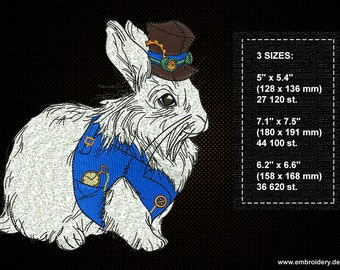 White Rabbit embroidery design