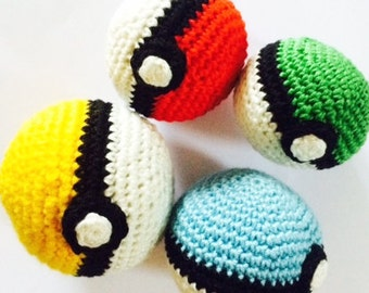 Handmade Pokeballs in various colours