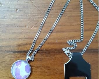 Leukemia necklace.  Blast cells as seen in Leukemia. Medical Laboratory Science