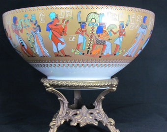 Homage to Tutankhamun - Numbered Collector's Bowl - Kaiser Porcelain of West Germany - King Tut - 1979 - Gifts for Men