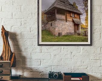Fine Art Photography, Old House Photo, Rustic House Print, Vintage House Photo, Instant Download, Wall Art, Home Decor, Travel Photography