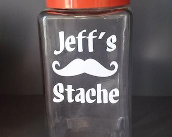 Personalized Stache Jar