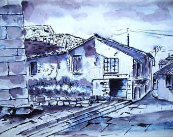 Pachón Luis original drawings, more than 30 different, b & w and color
