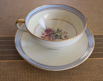 Antique Limoges Cup and Saucer by Charles Ahrenfeldt