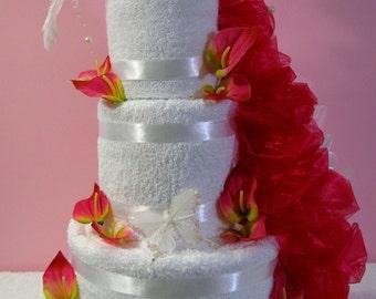 Wedding towels cake - Dove