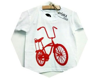 The red bike baby/kids screen printed t-shirt 100% cotton